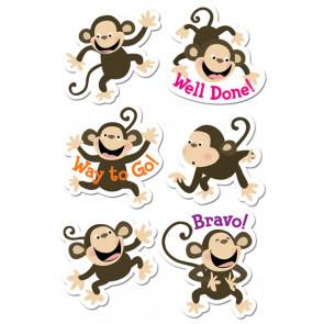 Kids Stickers   Monkey Fun Praise Stickers