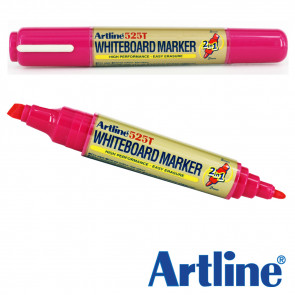 Whiteboard Markers | Artline EK525T, 2-in-1, Dual Tip - Pink Ink