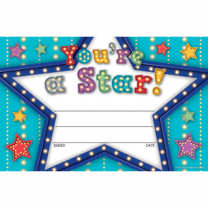 Kids Certificates | Marquee You're a Star! School Certificates
