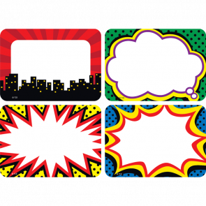 Name Labels | Colourful Superhero Name Tags/Labels.