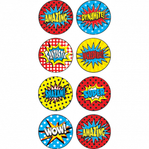 Reward Stickers | Superhero Superpower Mini Reward Stickers