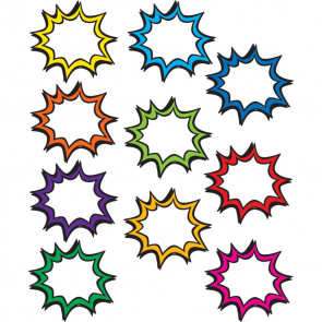 Classroom Decor | Superhero Star Bursts Cut Out Cards for Epic Displays!