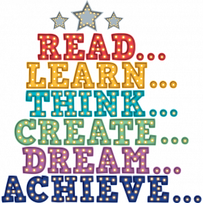 Classroom Banner | Read, Learn, Think, Create, Dream, Achieve Banner.