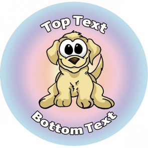 Personalised School Stickers | Playful Pup! Design Custom Standard and Scented Stickers