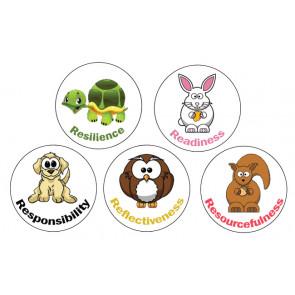 Teacher Stickers | Lifelong Learning Character Stickers - 70 per sheet