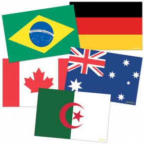 Cut Out Cards | World Flags Display Cards