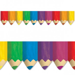 Classroom Display Trimmers / Borders | Colourful Pencils Shaped Border