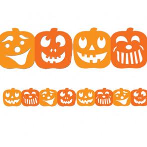 Classroom Borders | Halloween Jack-o-Lantern Stencil borders (large)
