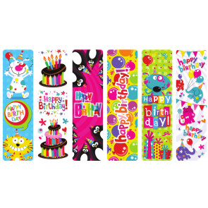Bookmarks | Low Cost Happy Birthday Super Fun Bookmarks
