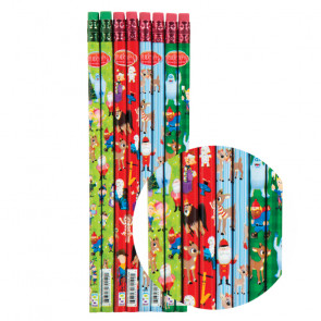 Kids Pencils | Christmas Fun Designs - Rudolph, Santa, Elves & More!