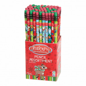 Christmas Pencils | Box of Christmas Fun Designs - Rudolph, Santa, Elves & More!