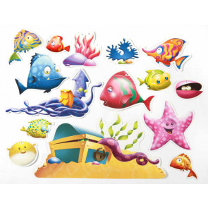Classroom Display | 30 Tropical Fish 2-Sided Decorations