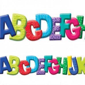 Display borders | A to Z Die Cut Alphabet Trimmer