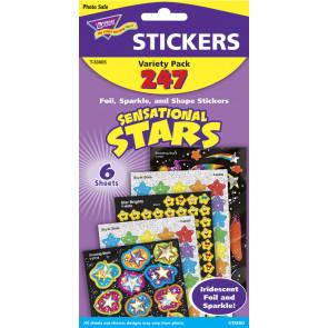 Kids Stickers | Sensational Stars Variety Sticker Pack for Kids