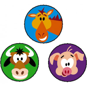 Farm Friends Animal Stickers for Children
