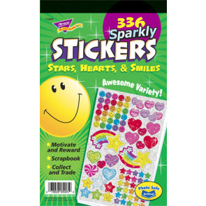 Sparkle Stars, Hearts & Smiles Primary Stickers for Kids