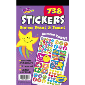 Childrens Stickers - Super Stars & Smiles Stickers for Kids