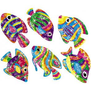 Flashy Fish Glitter Teachers Stickers
