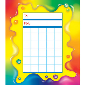 Rainbow Gel Sticker Chart