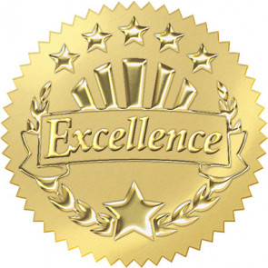 Excellence Award Seals for Kids (Gold)