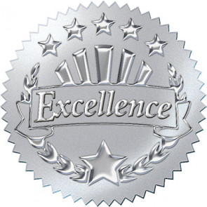 Excellence Award Seals for Kids(Silver)
