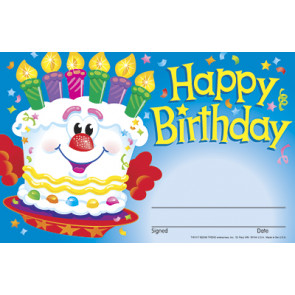 School Certificates | Happy Birthday Cake Certificates