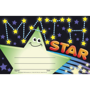 Math Star School Certificates
