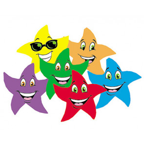 Kids Stickers | Colourful Star Smiles Scented Stickers for School (Fruit Punch)