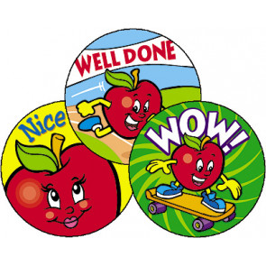 Kids Stickers | Amazing Apples Scratch n Sniff Stickers (Apple)