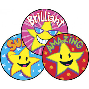 Reward Stickers | Superstars Scratch n Sniff Stickers (Caramel)
