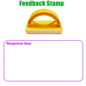 Teacher Stamp | Response box: Large Box Design to Prompt Written Response.