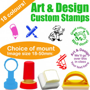 Custom Stamps | Art & Design Teacher Stamps