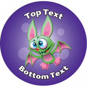 Personalised School Stickers | Halloween Bat! Design Custom Standard and Scented Stickers