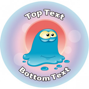 Personalised School Stickers | Blob Alien! Design Custom Standard and Scented Stickers