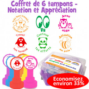 Tampons encreur | Coffret de 6 tampons