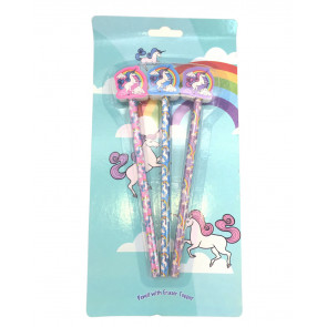 Unicorn Gifts | Rainbow Unicorn Topper Pencils Gift Pack,