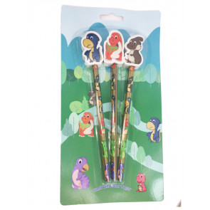 Dinosaur Pencils | Cartoon Cute Dinosaur Topper Pencils Gift Pack.