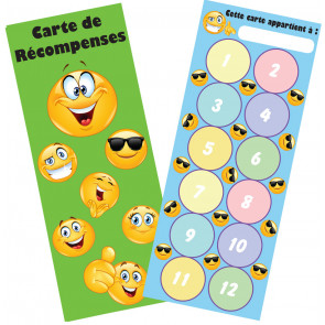 Reward Charts | Emoji French Language Reward Bookmark / Sticker Reward Chart