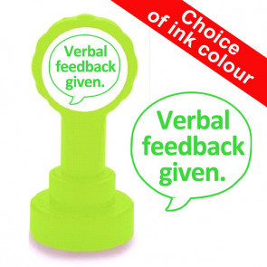 Teacher Stamps   Verbal feedback given. Self-inking Stamp for School.