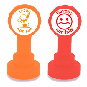 School Stamps | Leçon non sue & Devoirs non fait. French teacher stamps