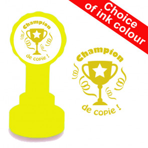 French Teacher Stamps | Champion de copie Trophy Design School Stamp
