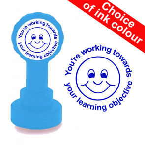 Teachers Stamps | Working Towards Learning Objective, teacher self-inking stamp