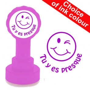 Teacher Stamps | Tu y es presque-French Language School Stamp.