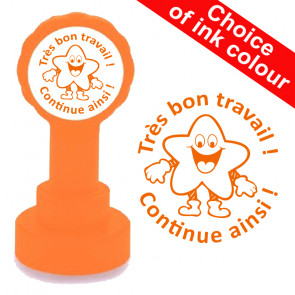 Teacher Stamp | Très bon travail / Continue ainsi French School Stamp