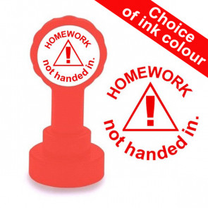 Teacher Stamp | Homework not handed in. 22mm, Reinkable