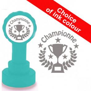 Teacher Stamp | Championne French Language Reward Stamp - Silver Grey Ink