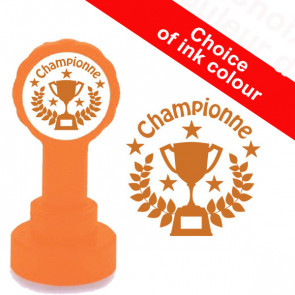 Teacher Stamp | Championne French Language Reward Stamp - Bronze Ink