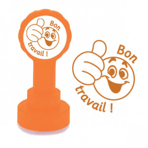 Teacher Stamp | Bon Travail French MFL Stamp - Bronze Ink