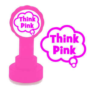 Teacher Stamp | Pink Think (Pink for Think) Marking Stamp