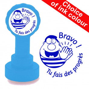 Teacher Stamp | Bravo ! Tu fais des progrès French School Stamp